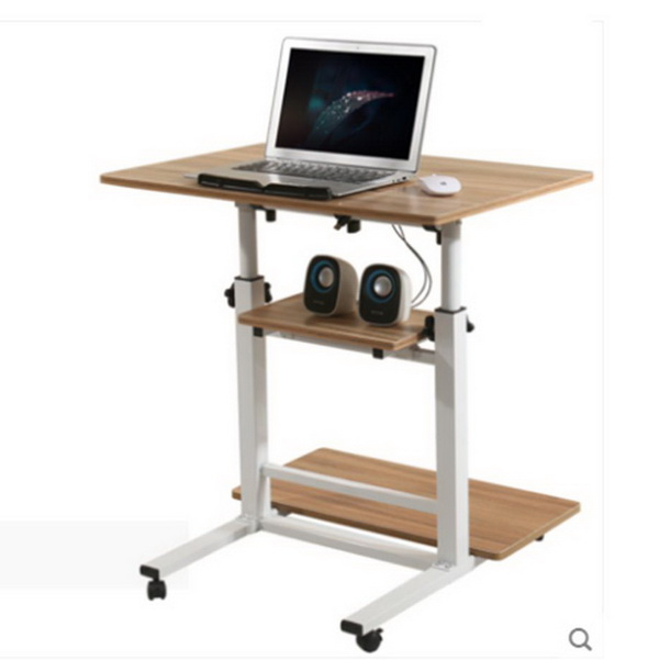 Pre-order โต๊ะทำงานปรับระดับ โต๊ะคอมพิวเตอร์ปรับระดับ โต๊ะพรีเซนต์งาน โต๊ะยืนทำงาน สีไม้