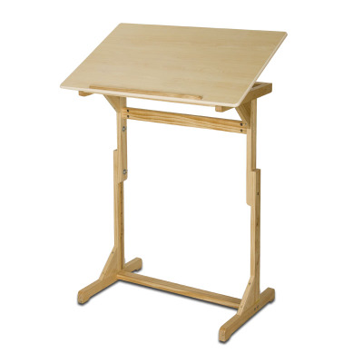 Pre-order โต๊ะไม้สนขาว โต๊ะทำงานปรับระดับ โต๊ะแล็ปท็อป โต๊ะวางคอมพิวเตอร์ โต๊ะเขียนแบบ ปรับระดับ และปรับองศาได้