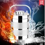 Pre-order ปิ่นโตเก็บความร้อนสแตนเลสระบบสูญญากาศ สีเงิน ขนาดบรรจุ 2.0 ลิตร