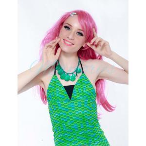 เสื้อแบบผูกคอ Emerald Scale