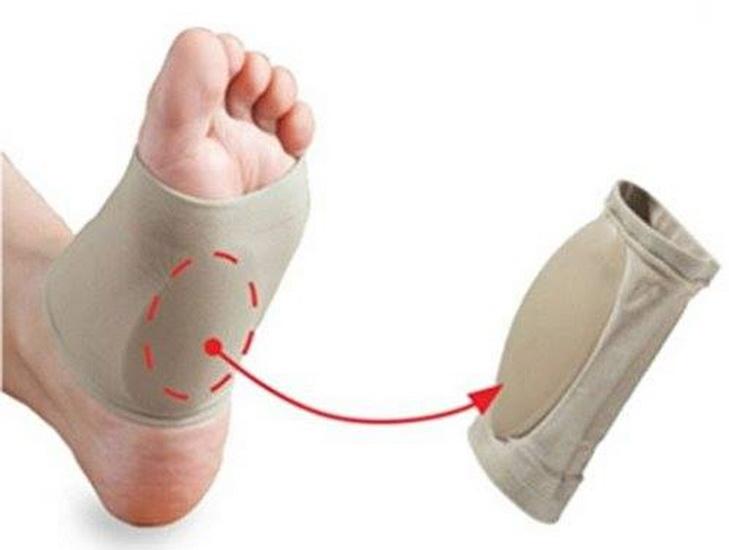 ผ้ารองซิลิโคนสวมกลางเท้า (สำหรับผู้มีปัญหาเท้าแบน)