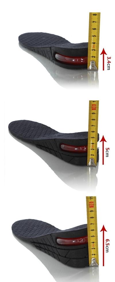แผ่นเพิ่มความสูง แบบเต็มเท้า (ปรับสูงได้ 3.4 - 6.5 cm)