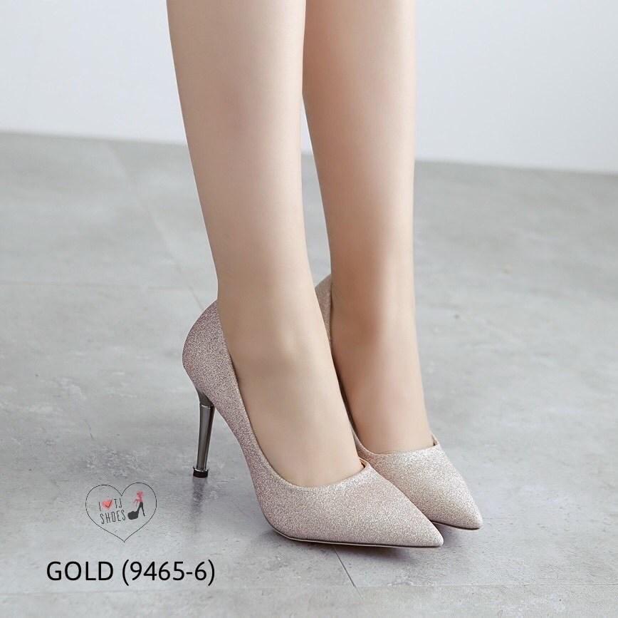 รองเท้าคัทชูกากเพชร (สีทอง)