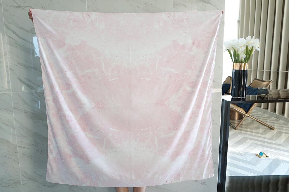 ผ้าพันคอ ลาย หินอ่อน - Pink Marble พร้อมส่ง