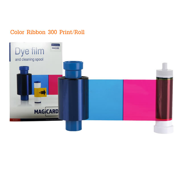 หมึกริบบอน หมึกสี YMCKO 300 Print สำหรับเครื่องพิมพ์บัตร MagiCard Pronto