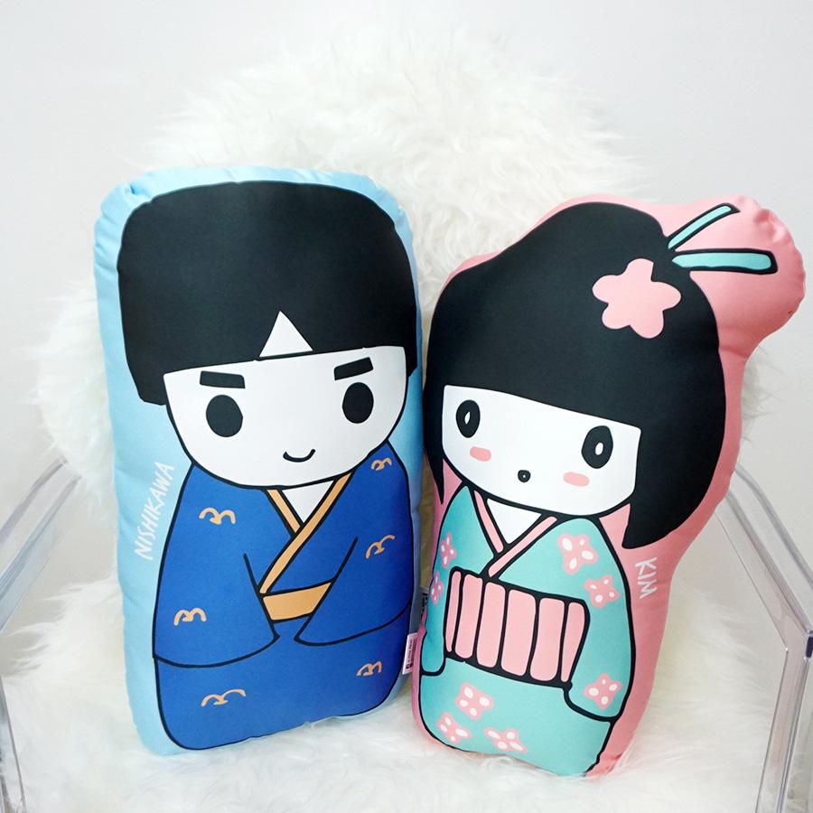 หมอนลาย Japanese Girl and boy