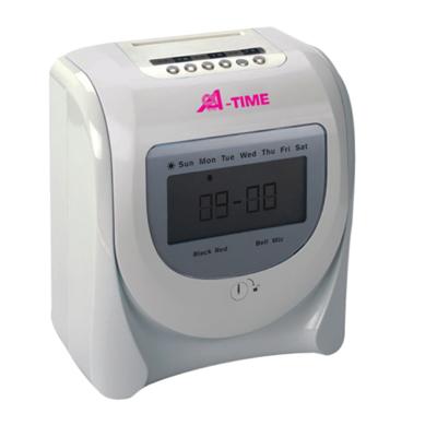 เครื่องตอกบัตร (ขาว-เงิน) อัลฟ่า-ไทม์ ALP-7100D
