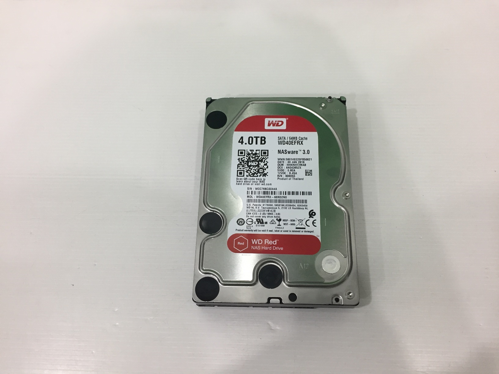 """WD Red 3.5"""" NAS Hard Drives - 4TB (WD40EFRX) 03/2021"""