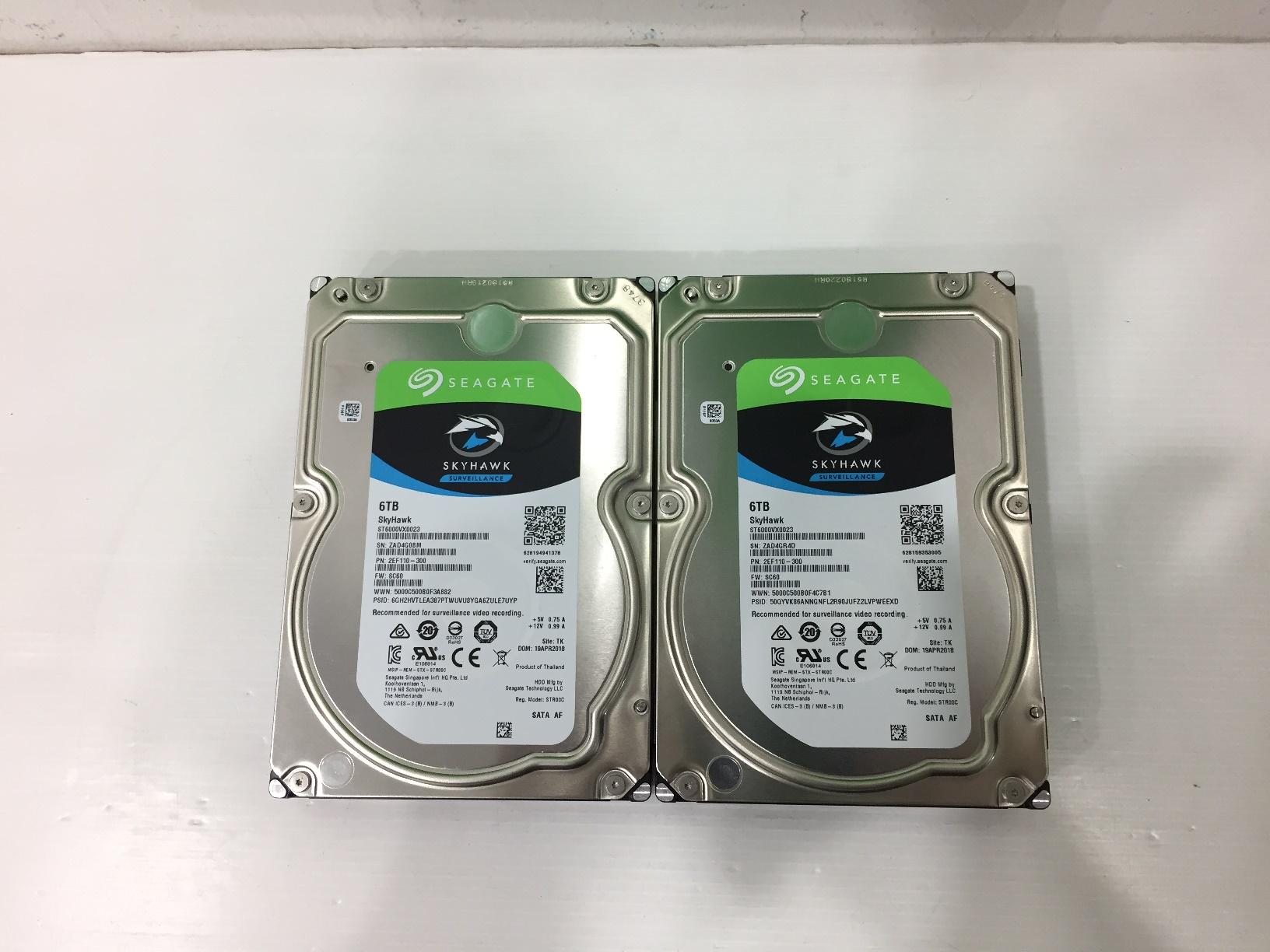 6.0 TB HDD SEAGATE SATA-3 SKYHAWK (ST6000VX0023) 07/2021