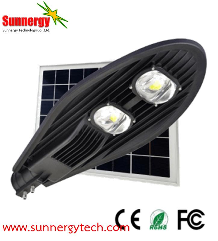 โคมไฟ Solar Street Light ขนาด 50W พร้อมแผงโซล่าเซลล์ 35W