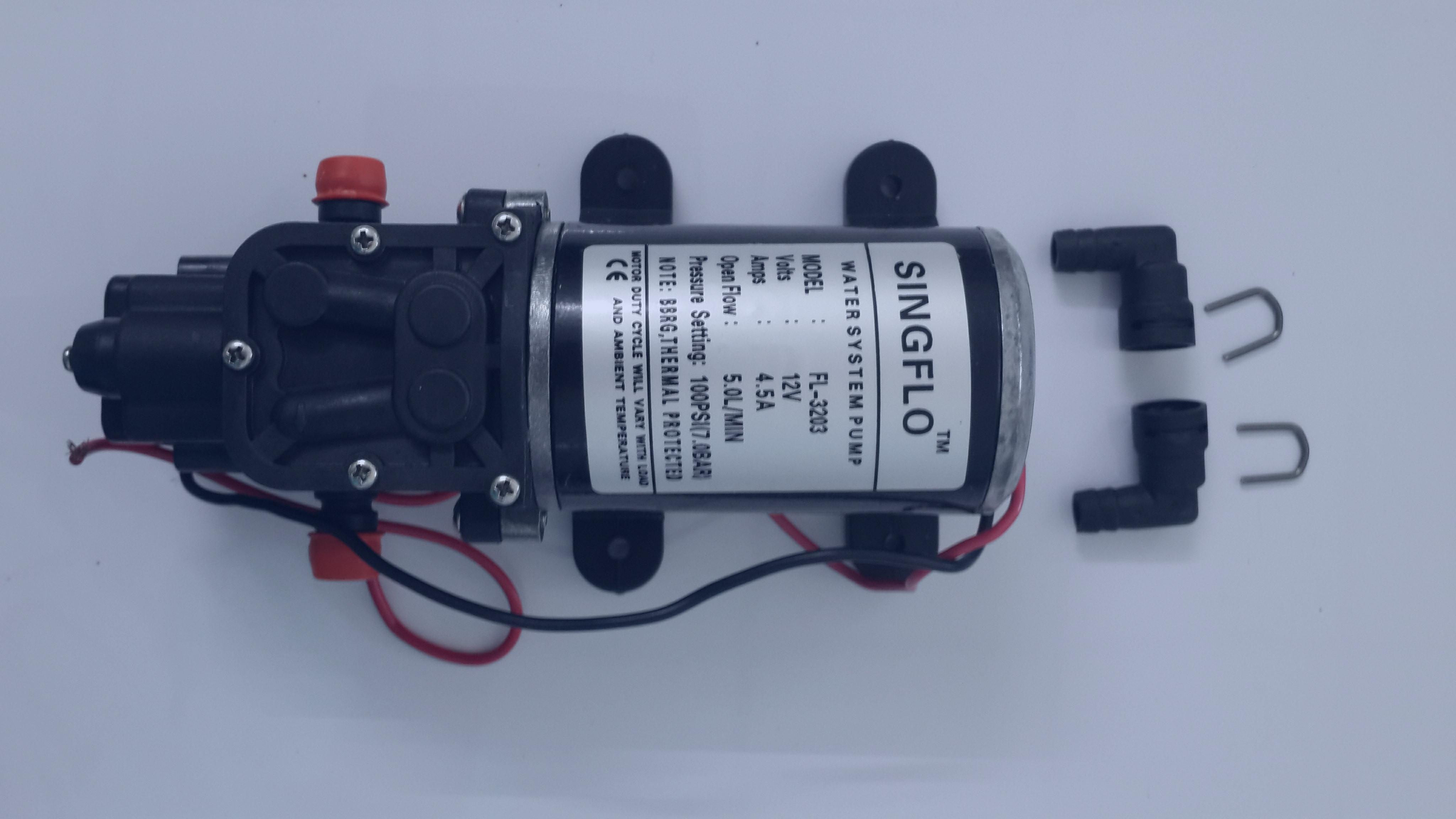 ปั๊มน้ำ 12V/4.5A/80PSI