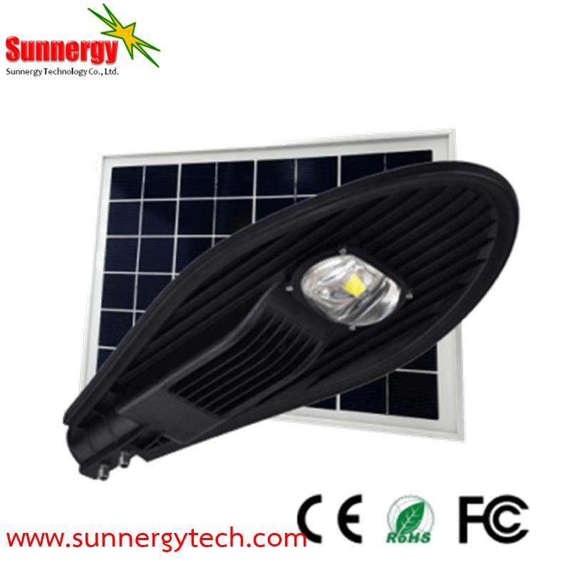 โคมไฟ Solar Street Light ขนาด 30W พร้อมแผงโซล่าเซลล์ 45W