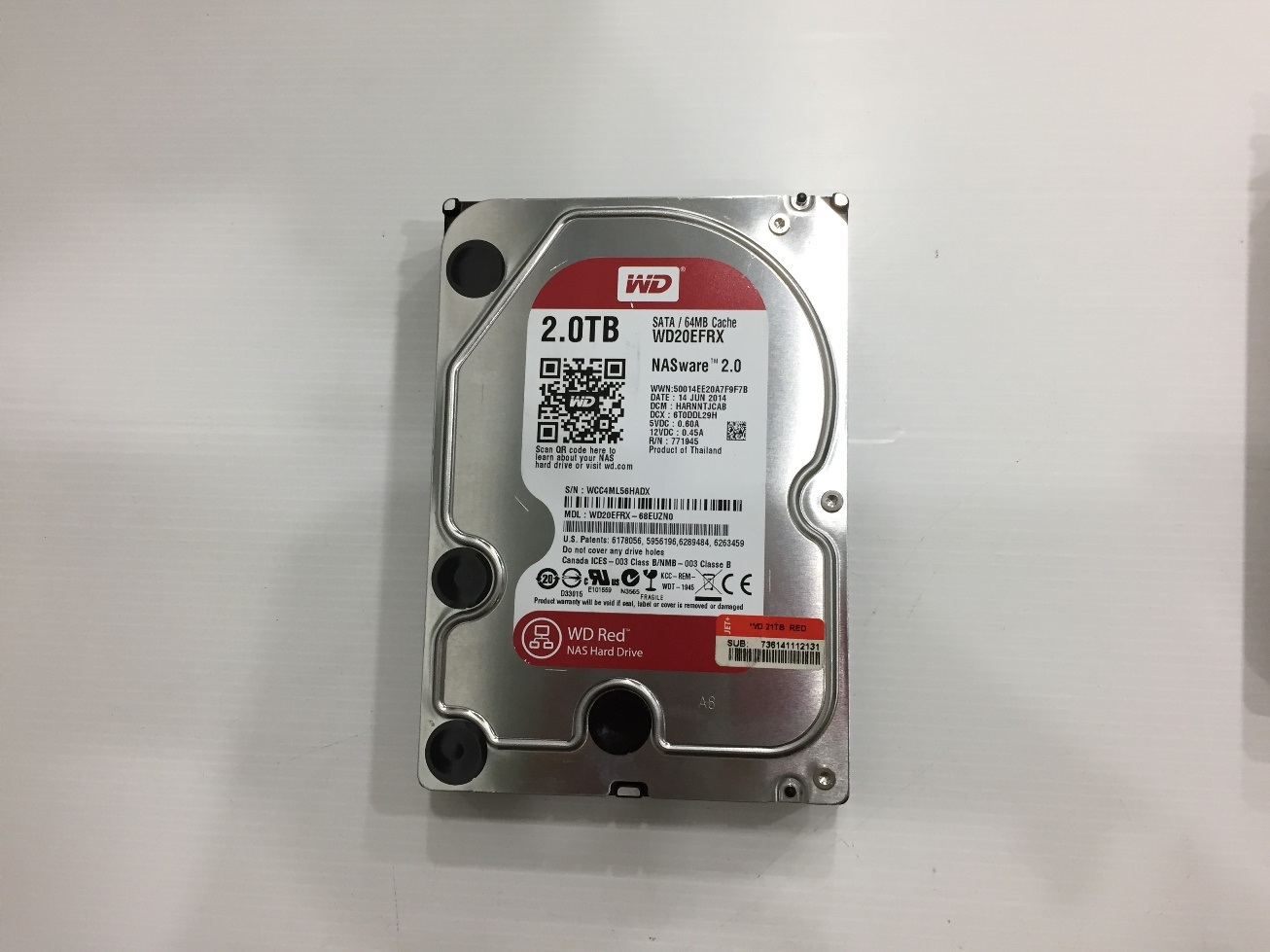 2TB. WD NAS RED