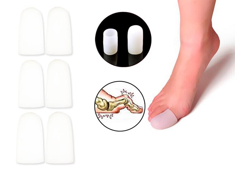 ปลอกซิลิโคนสวมนิ้วโป้งเท้าปลายปิด ( x3คู่ )