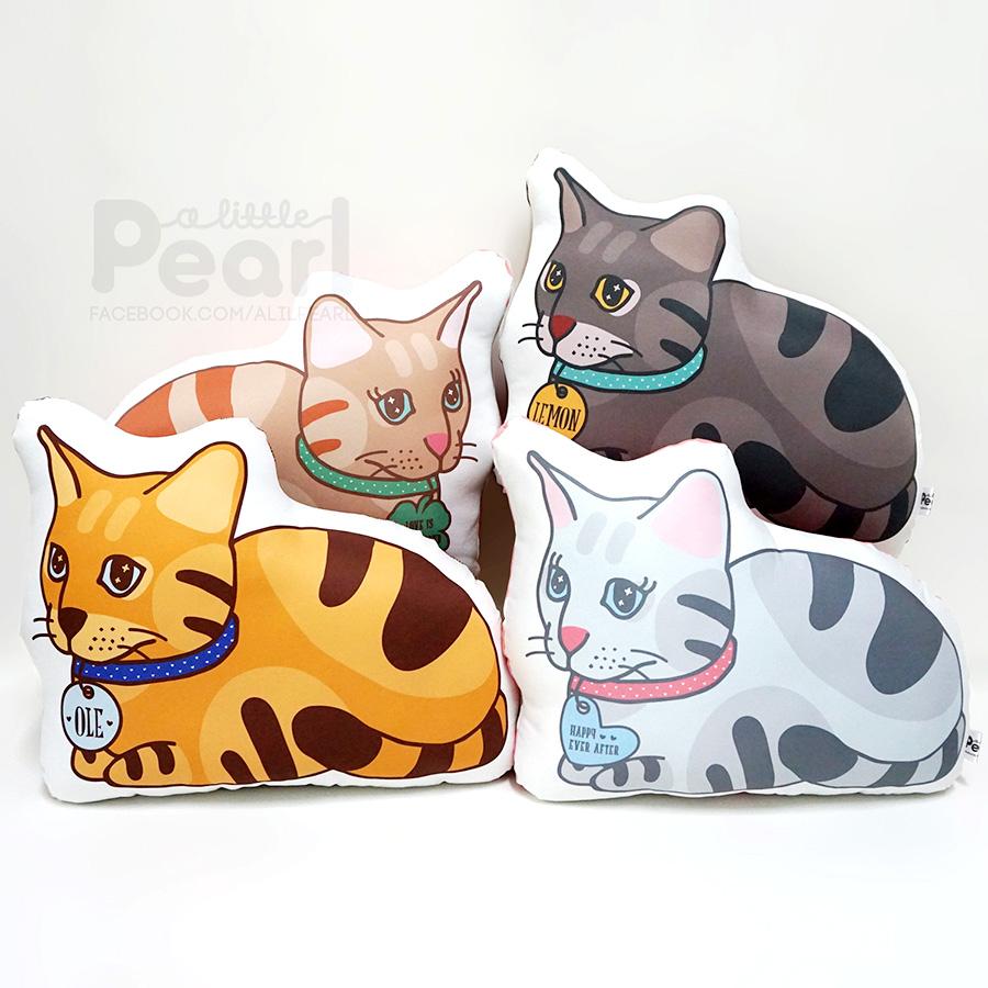 หมอนสั่งทำใส่ชื่อ รูปแมว - CAT