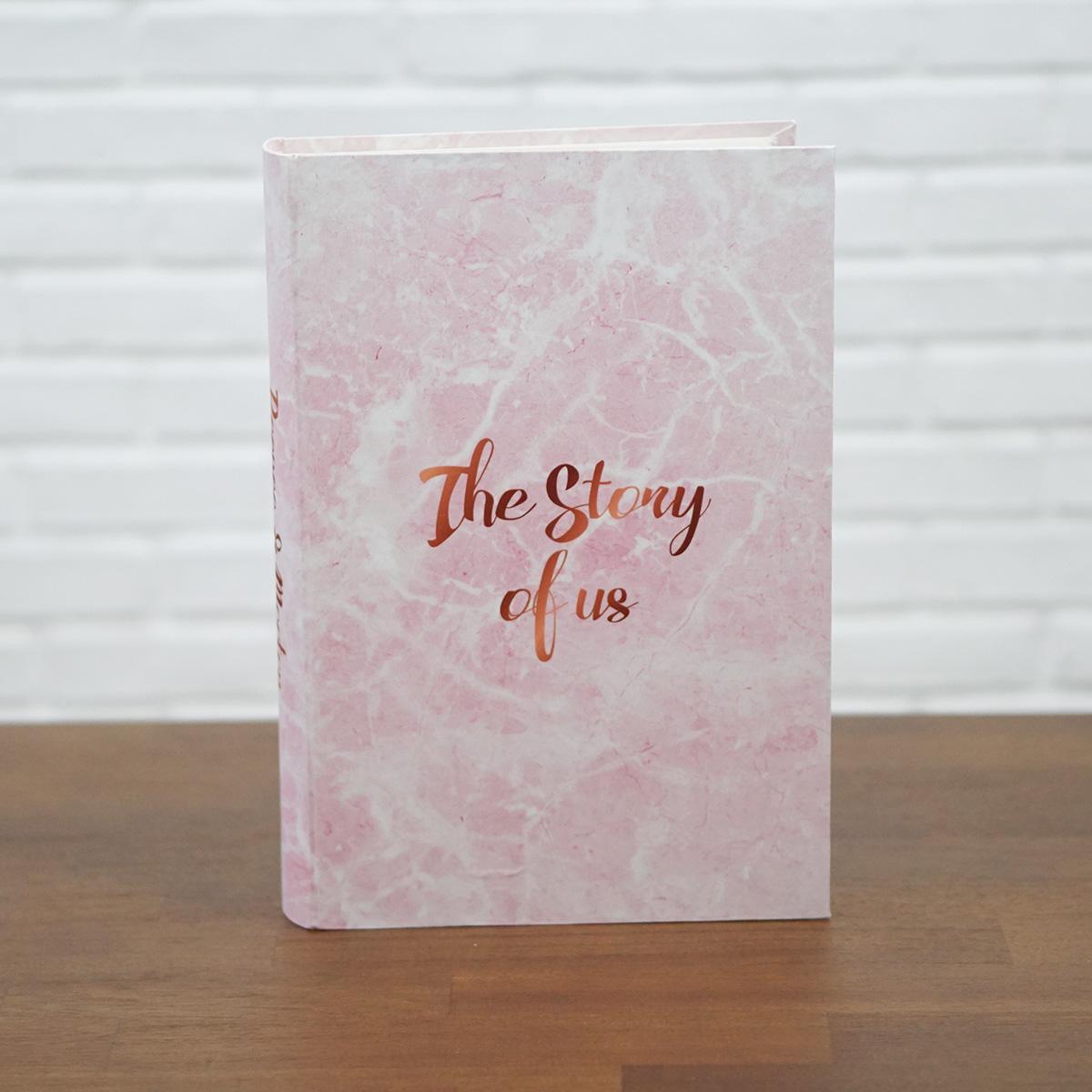 """อัลบั้ม 300 รูป (4x6"""") ลายหินอ่อนสีชมพู - สั่งทำใส่ชื่อ"""