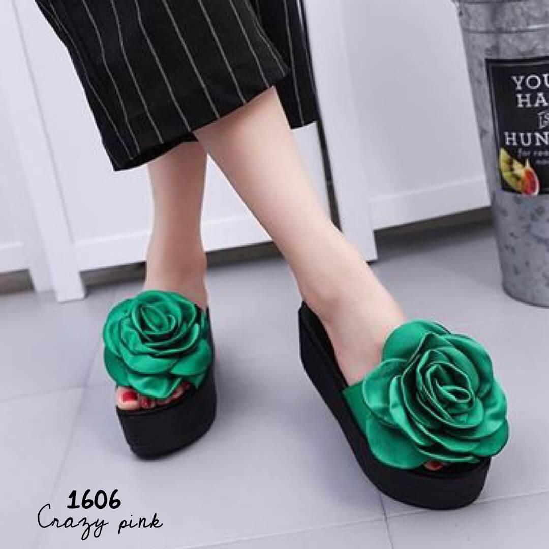 รองเท้าลำลองกุหลาบ (สีเขียว)