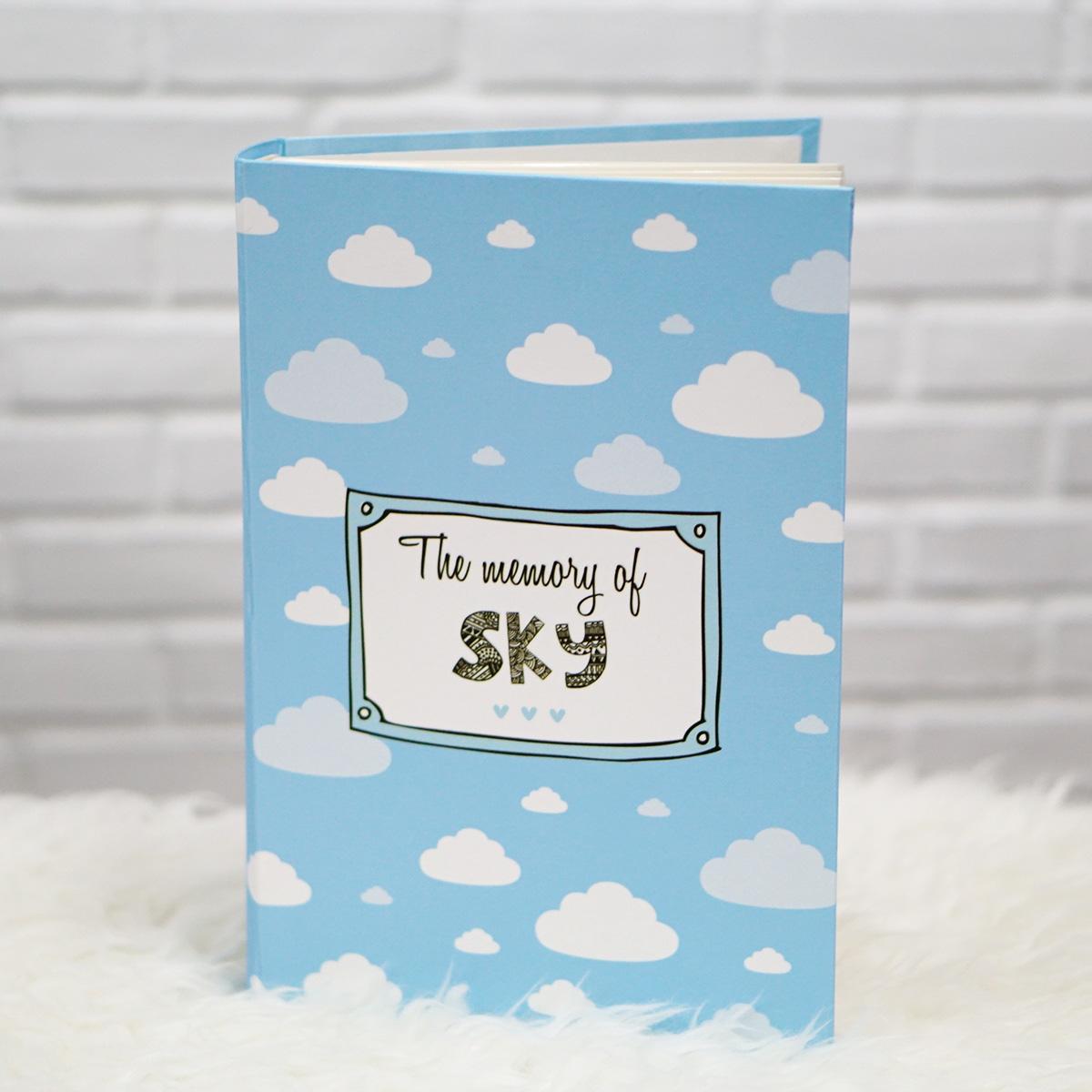 """อัลบั้ม 300 รูป (4x6"""") ลายเมฆ - สั่งทำใส่ชื่อ"""