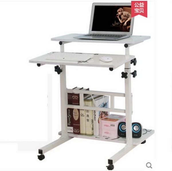 Pre-order โต๊ะทำงานปรับระดับ โต๊ะคอมพิวเตอร์ปรับระดับ โต๊ะพรีเซนต์งาน โต๊ะยืนทำงาน สีขาวนวล