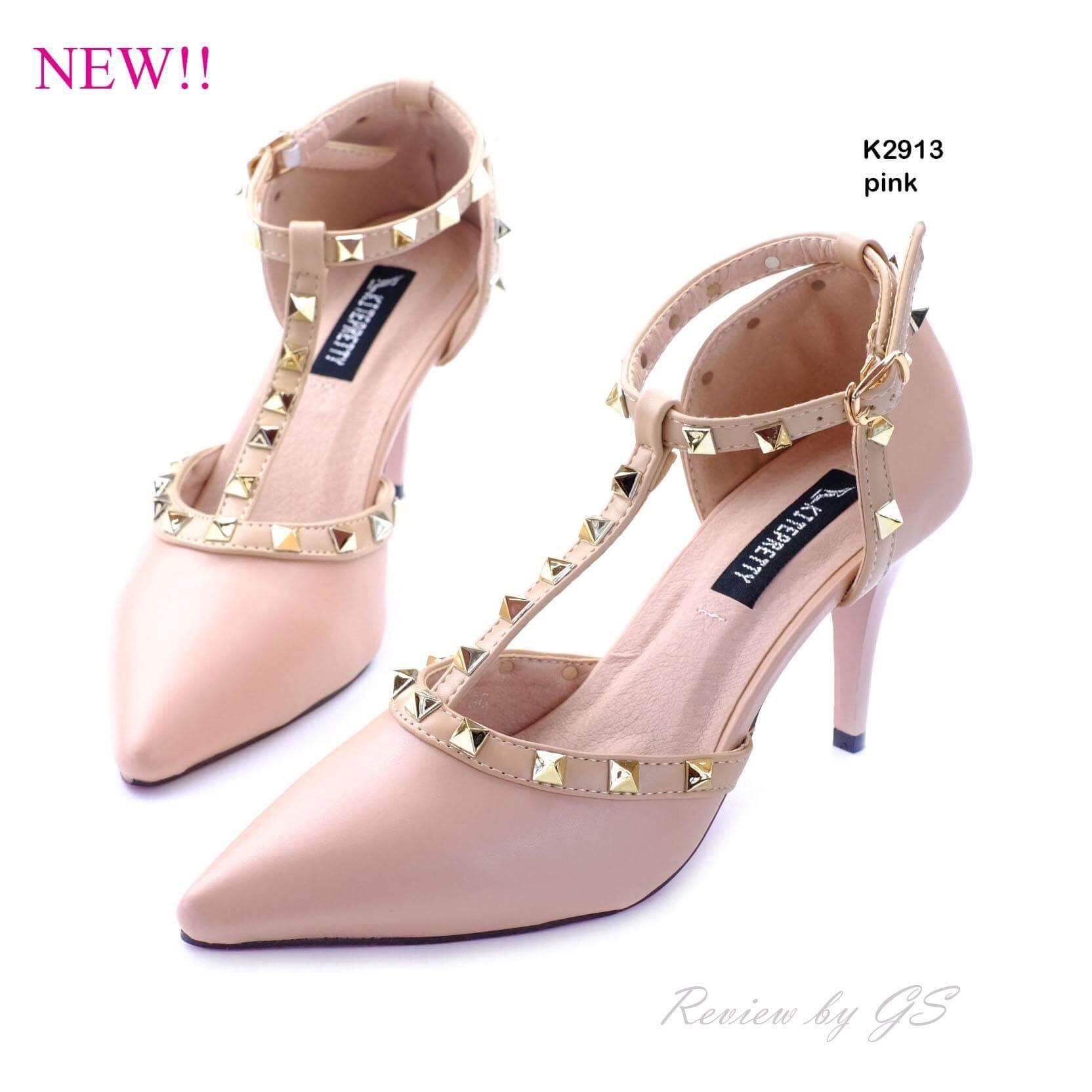 รองเท้าคัทชู Style Valentino (สีชมพู)