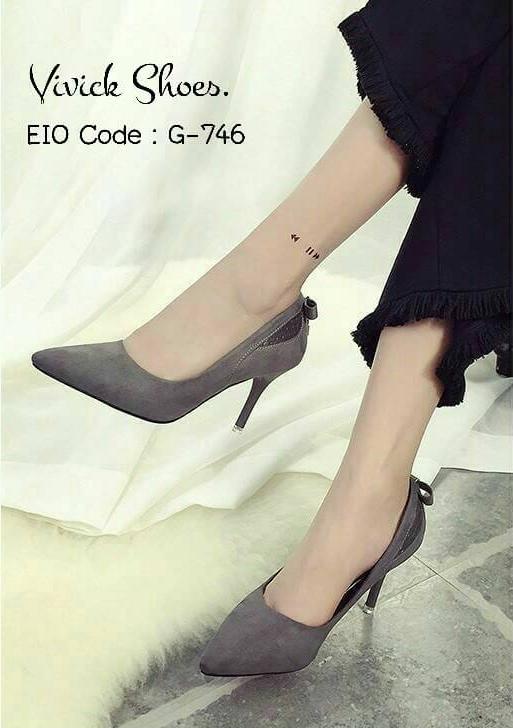 รองเท้าคัทชู Style Hermes (สีเทา)