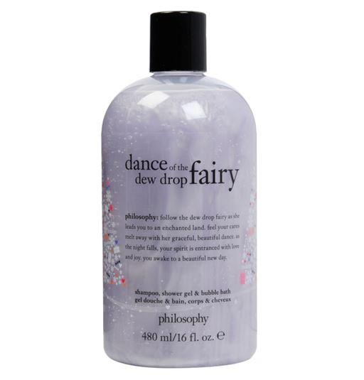 **พร้อมส่ง**Philosophy Shampoo, Shower Gel & Bubble Bath 480 ml. (Limited Edition) กลิ่น Dance of The Dew Drop Fairy เจลอาบน้ำกลิ่นหอมลิมิเต็ดอิดิชั่น กลิ่นหอมแนวฟรุตตี้ที่ให้ความรู้สึกร่าเริงสดใส พร้อมประสิทธิภาพ 3 ประการในหนึ่งเดียว สามารถใช้ทำความส ,