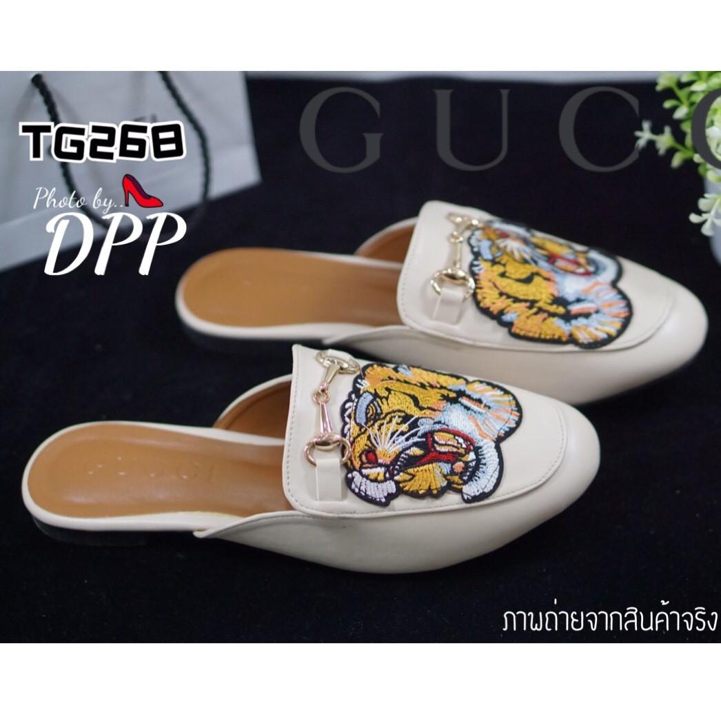 รองเท้า Style GUCCI tiger slippes (สีครีม)