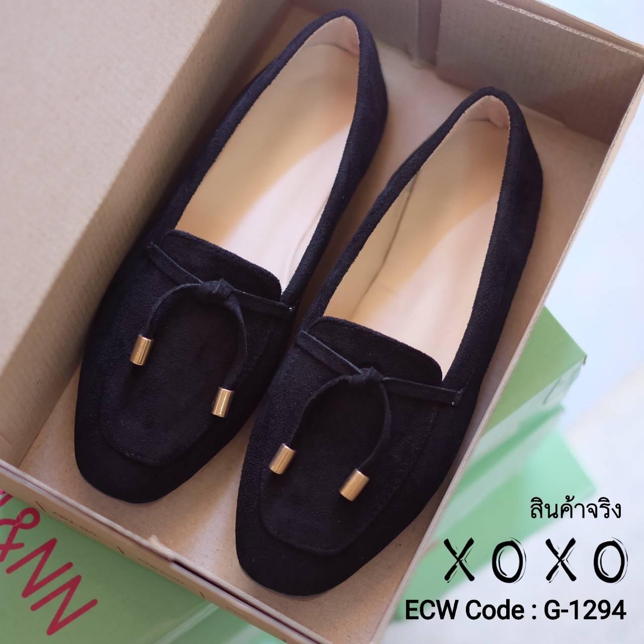 รองเท้าส้นแบน Style Tods (สีดำ)