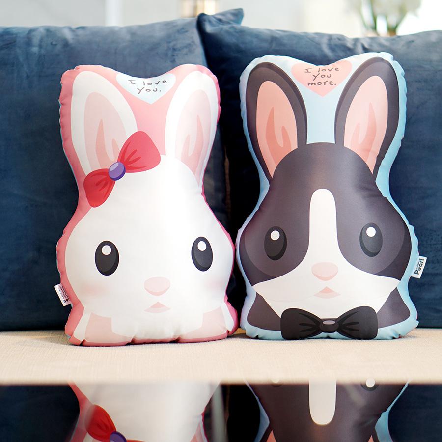 หมอนสั่งทำใส่ชื่อ ลายกระต่าย - Rabbit