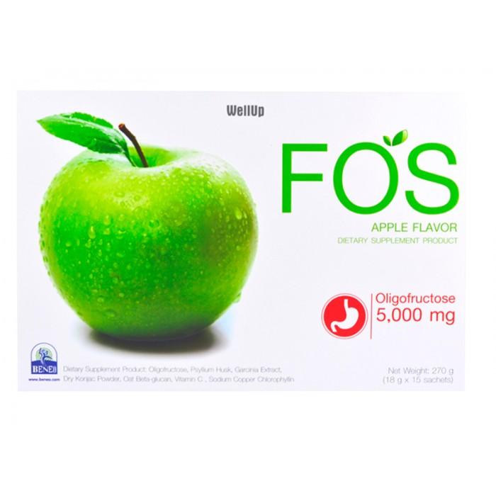 FOS Detox - อาหารเสริมดีท็อกซ์ ลดความอ้วน ฟอส กลิ่นแอปเปิ้ล # ขนาดบรรจุ 18 กรัม จำนวน 1 กล่อง (บรรจุกล่องละ 15 ซอง)
