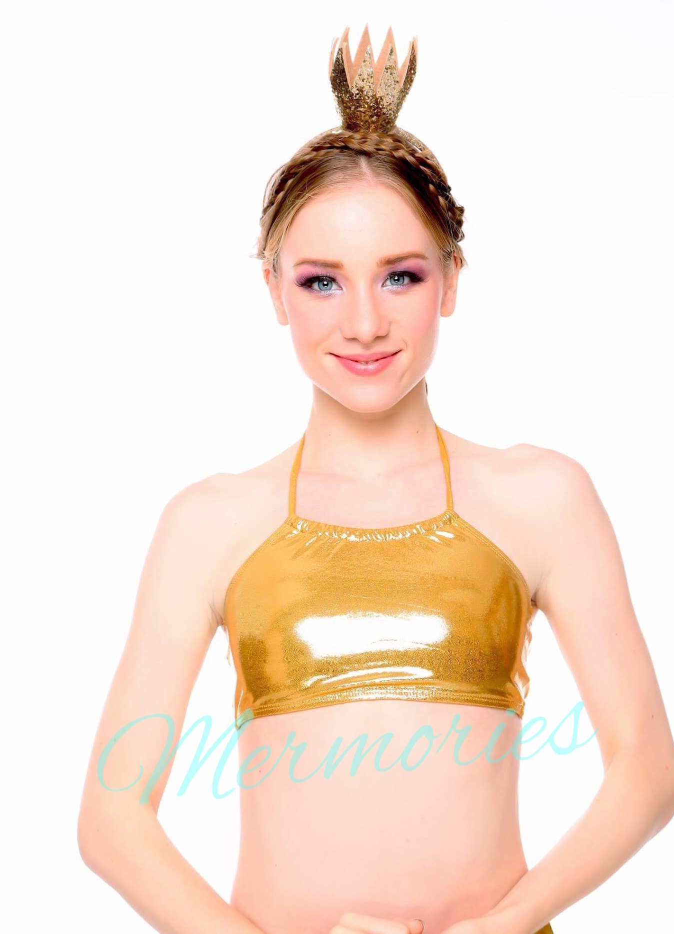 Ravenna Gold Glitter แบบผูกคอครึ่งตัว