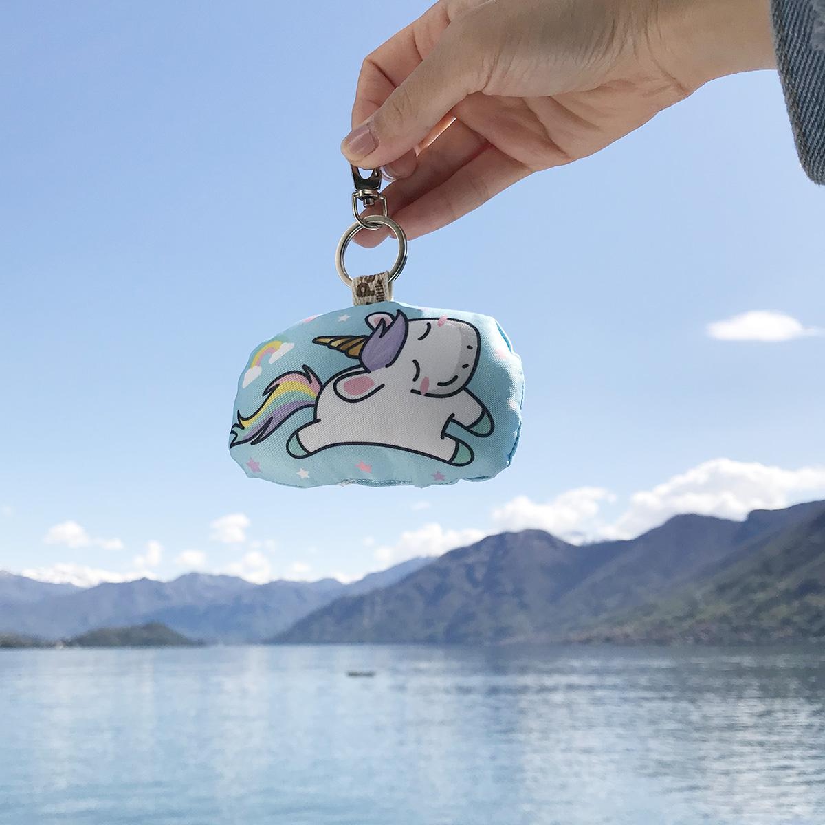 พวงกุญแจพร้อมส่ง ลาย Unicorn - Blue