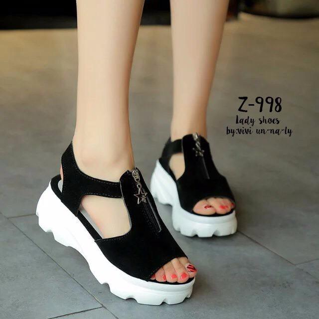 รองเท้าลำลองแต่งซิปสไตล์เกาหลี