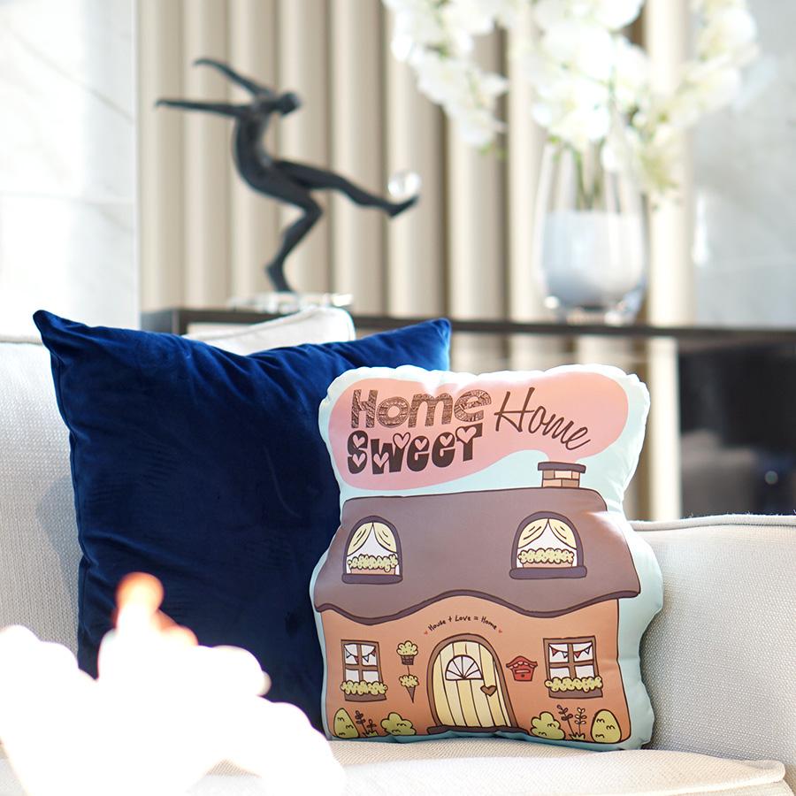 หมอนรูปบ้าน Home Sweet Home Pillow