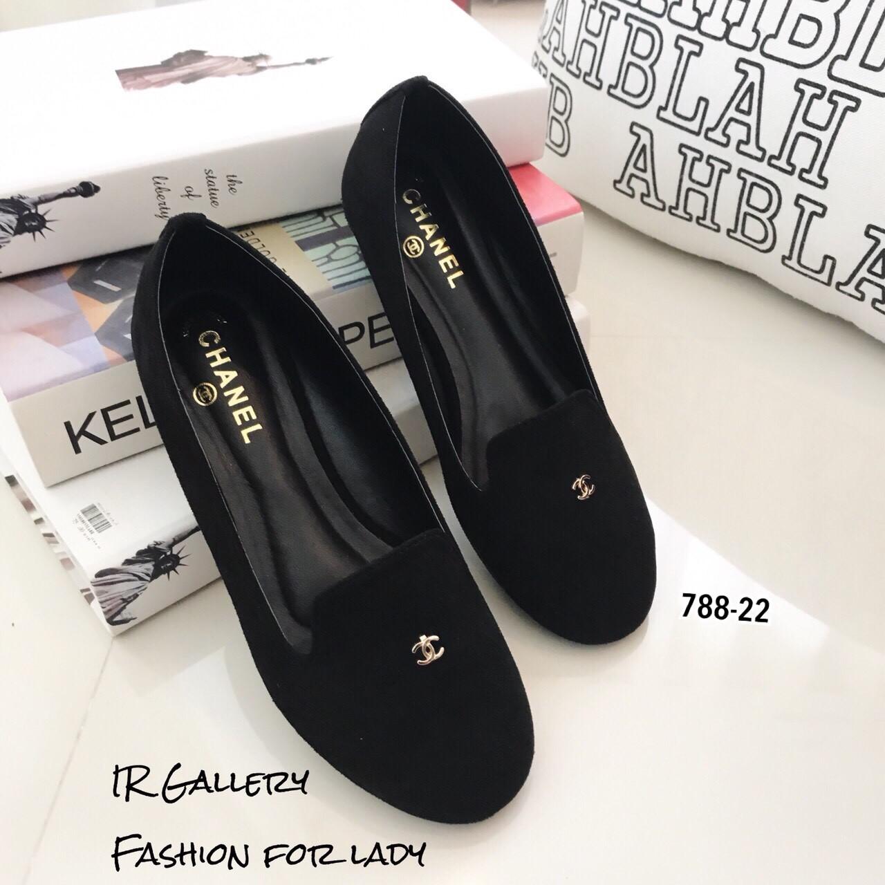 รองเท้า Loafer Style Chanel (สีดำ)