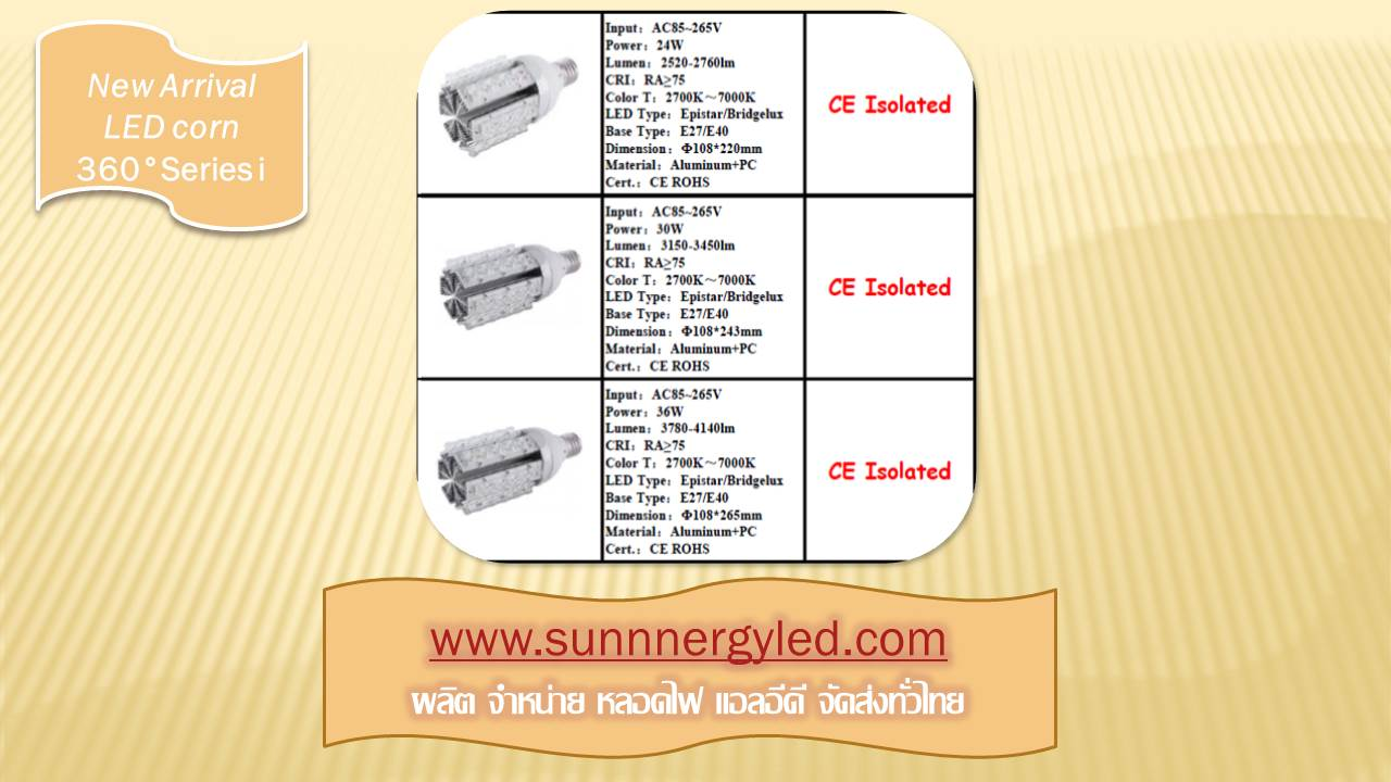 LED corn light STC-QF-CLI36WB