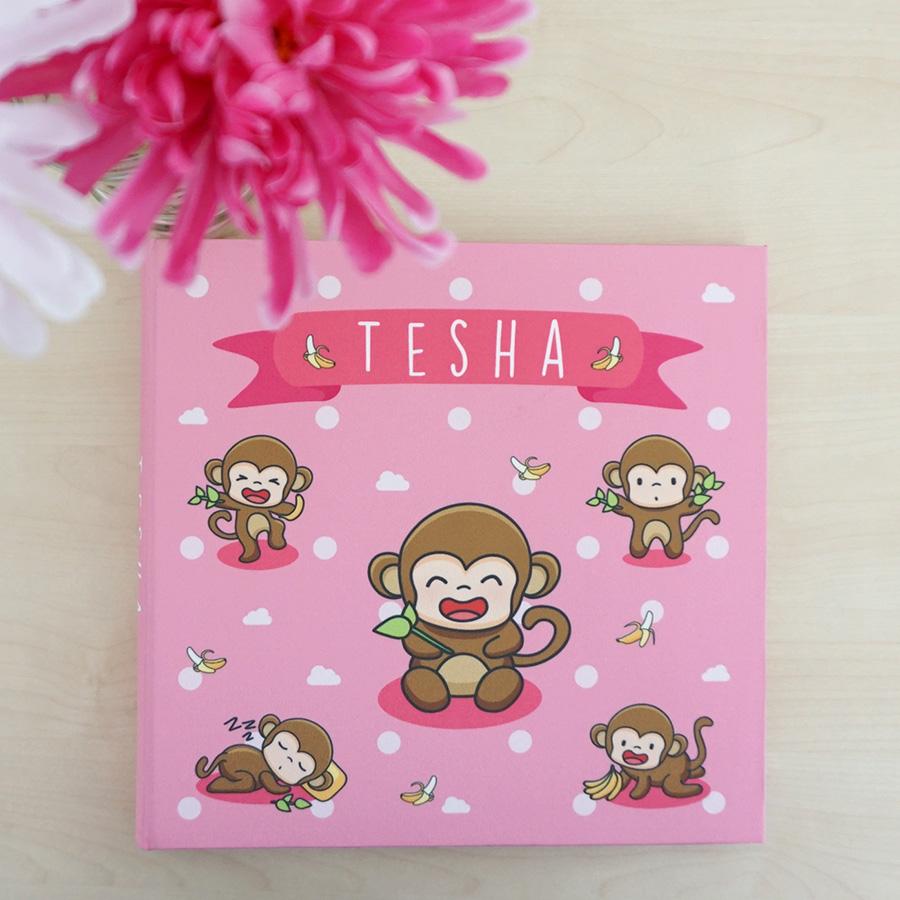 """อัลบั้ม 100 รูป (4x6"""") ลายลิง - สั่งทำใส่ชื่อ"""