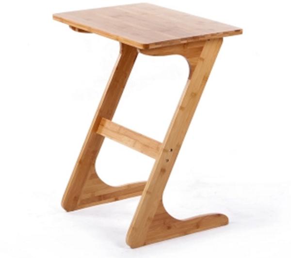 Pre-order โต๊ะไม้ไผ่ Z โต๊ะแล็ปท็อป โต๊ะวางคอมพิวเตอร์ สีวอลนัท