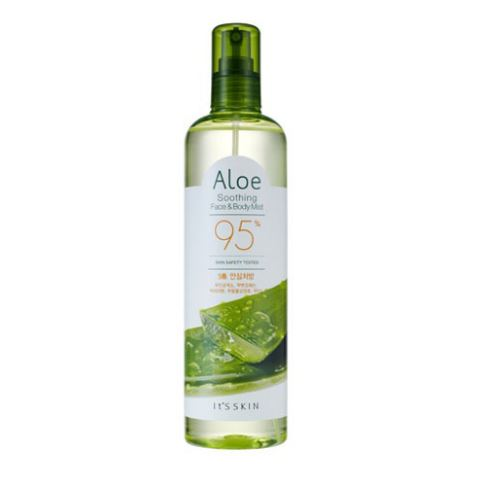 **พร้อมส่ง**It's Skin Aloe Soothing Face & Body Mist 95% 400 ml. สเปร์ยว่านหางจระเข้สำหรับผิวหน้าและผิวกาย ช่วยบำรุงผิวให้เนียนนุ่ม ชุ่มชื่น ช่วยเติมน้ำหล่อเลี้ยงผิว ให้มีความชุ่มชื่นยาวนานซึมซาบเร็ว เหมาะกับผิวแพ้ง่าย ,