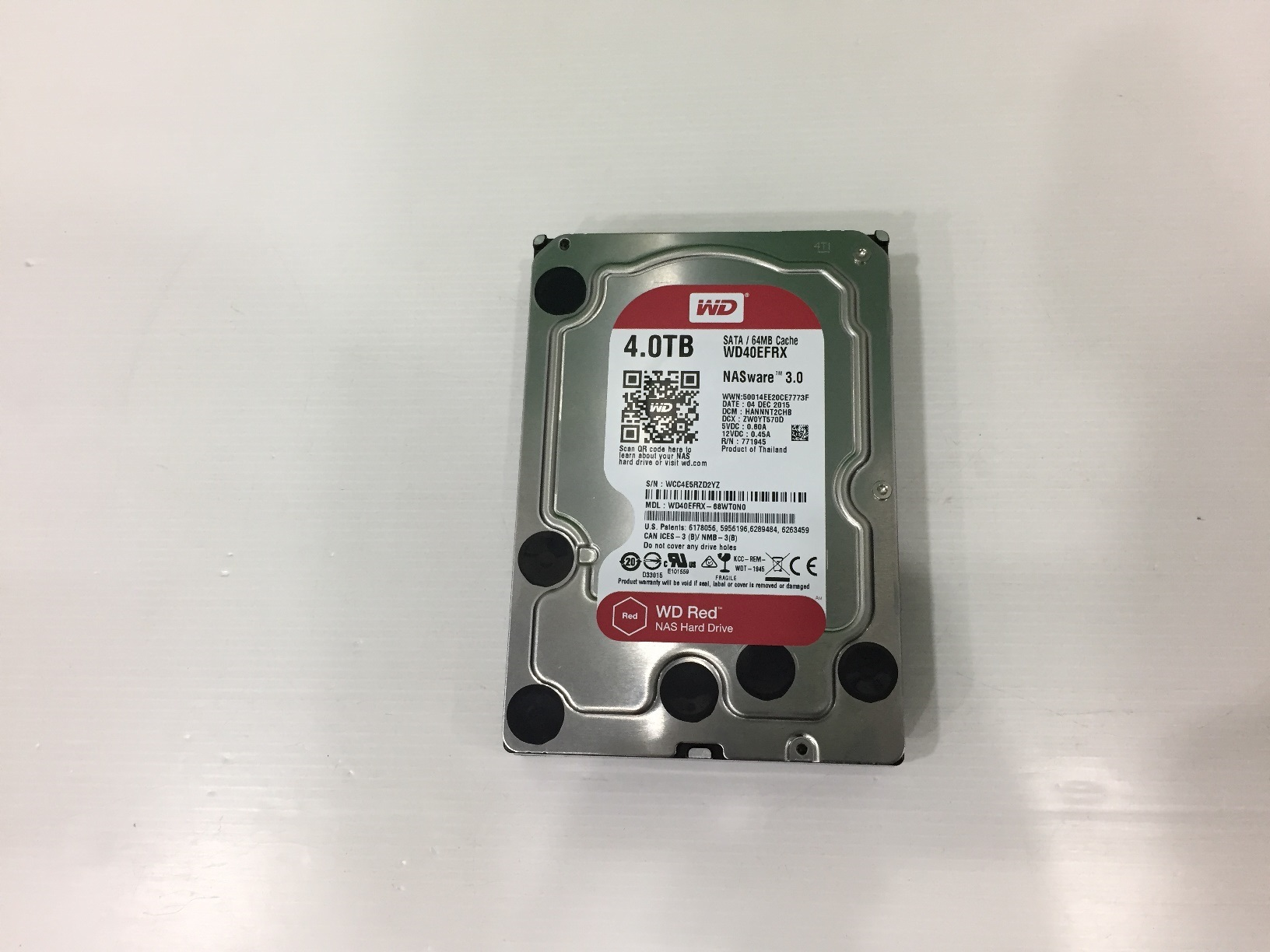 4.0 TB HDD WD NAS RED SATA-3 (WD40EFRX)
