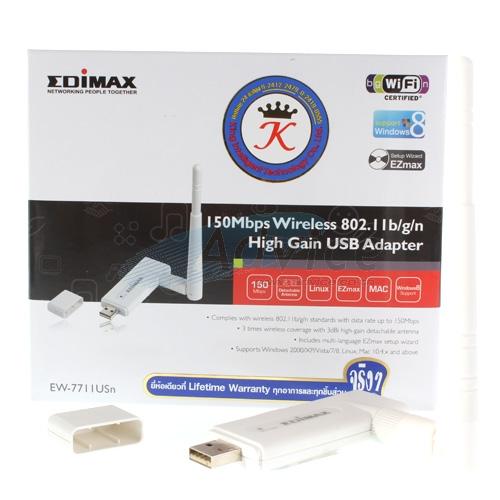150Mb Wireless USB Adapter EDIMAX (EW-7711USN) HighGain