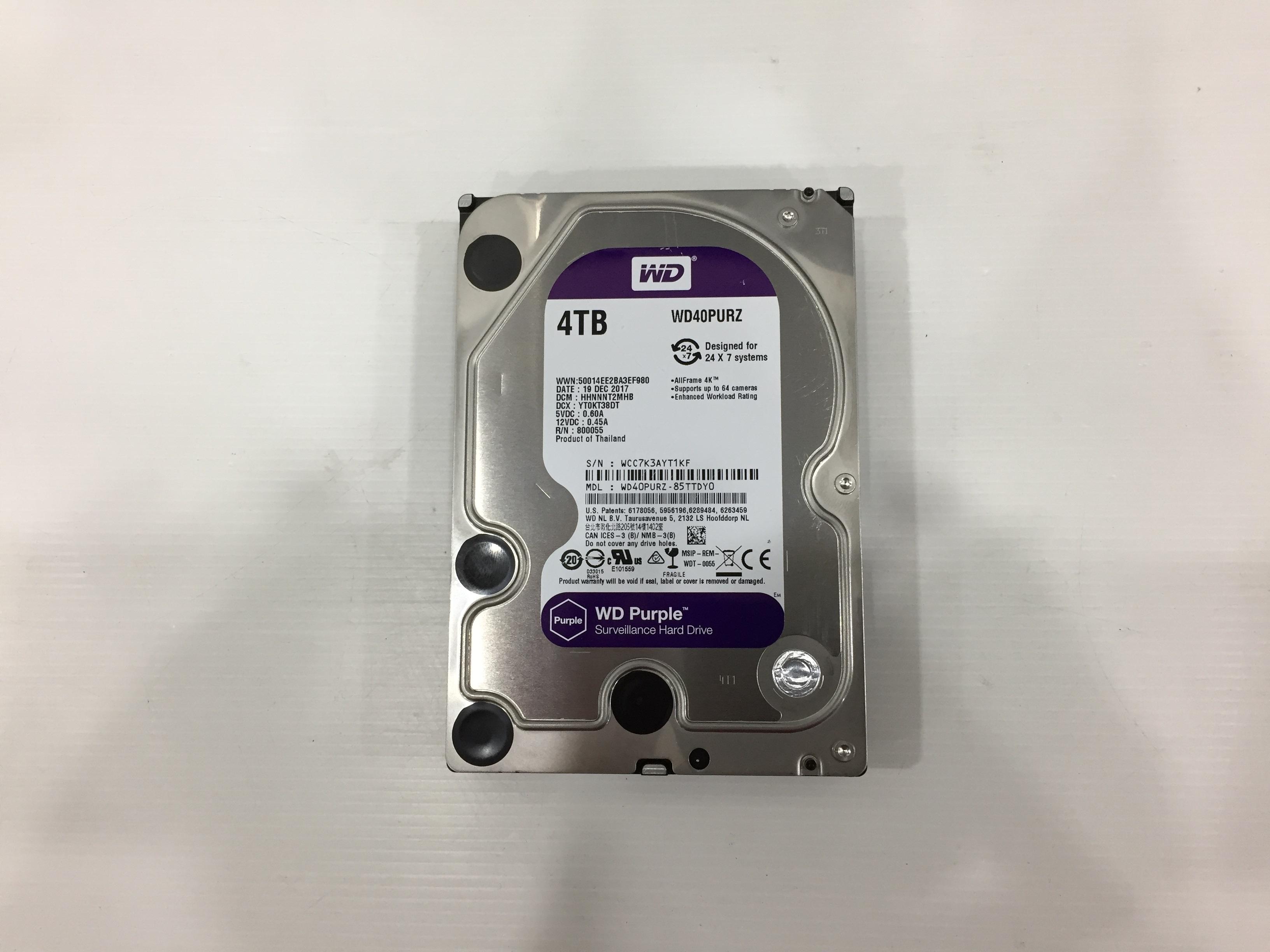 4TB. WD Purple 01/2021