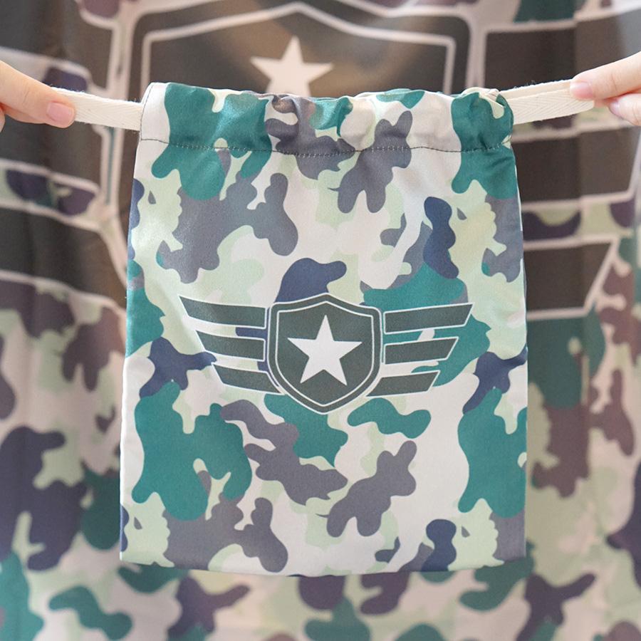 ถุงผ้าซาติน ลายทหาร
