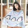 ผ้าคลุมให้นม สั่งทำใส่ชือ ลาย Penguin - Blue