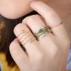 R-36 แหวนใบไม้ 3 ชิ้น