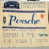 ผ้าห่มเด็ก ใส่ประวัติแรกเกิด ลาย Porsche - Yellow