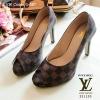 รองเท้าคัทชู Loius Vuitton Damier (น้ำตาล)
