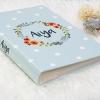 """อัลบั้ม 300 รูป (4x6"""") ลาย Polka dot - Watercolour Floral Frame - สั่งทำใส่ชื่อ"""