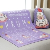 ผ้าห่มเด็ก ใส่ประวัติแรกเกิด ลายกุ๊กไก่ สีม่วง / Kook Kai - Purple