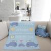 ผ้าห่มเด็ก สั่งทำใส่ชื่อ ลายวาฬ สีฟ้า / Whale - Blue